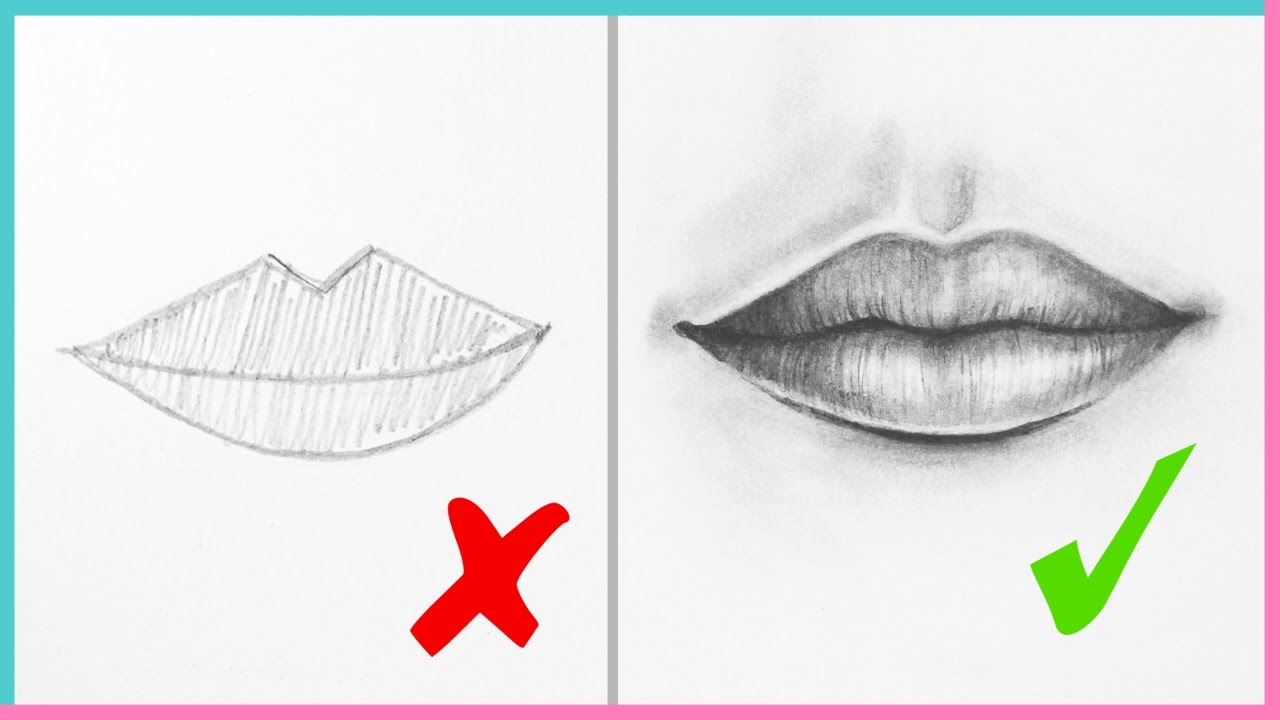 1280x720 Dos Amp Don'Ts How To Draw Realistic Lips Amp The Mouth Step By Step