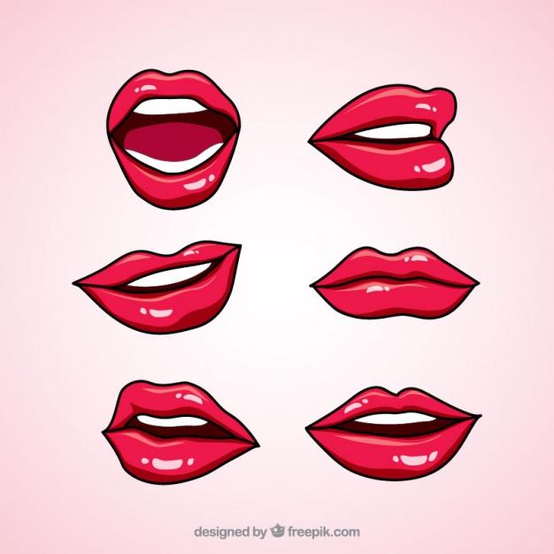 626x626 Hand Drawn Lip Gloss Set Vector Free Download