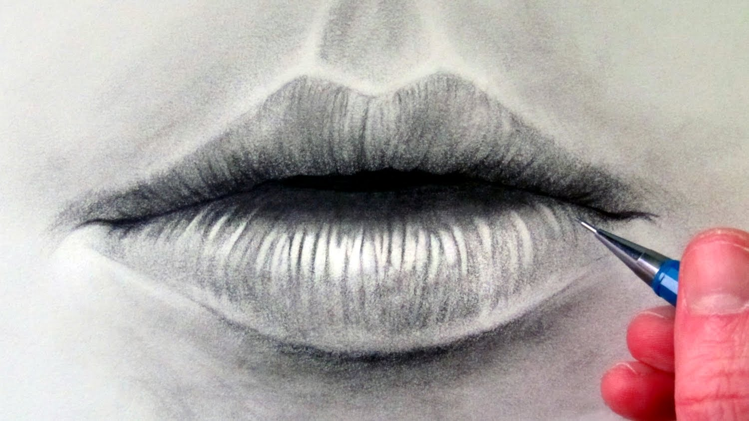 1500x844 How to draw a Realistic Mouth amp Lips