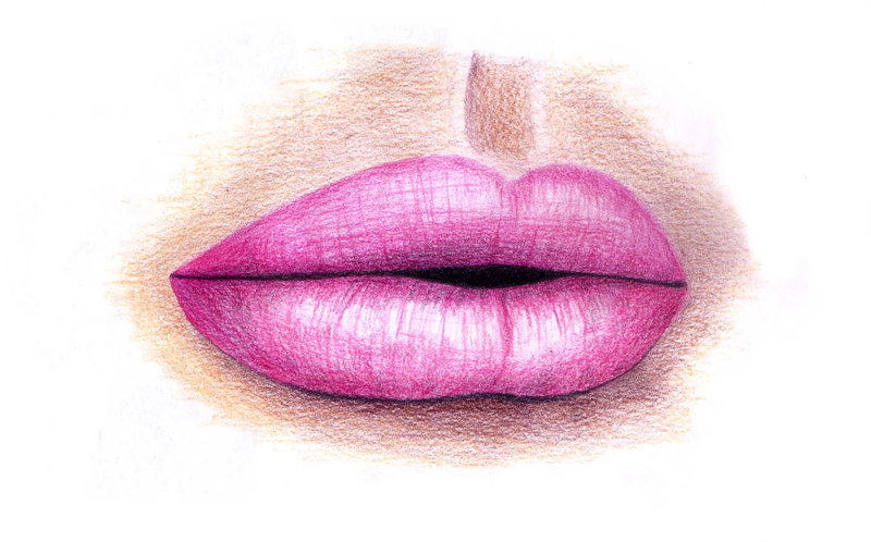 800x498 Pink Lips Drawing by thekookyartist on DeviantArt