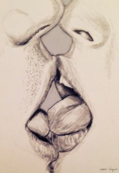 236x343 Realistic pencil drawing kissing