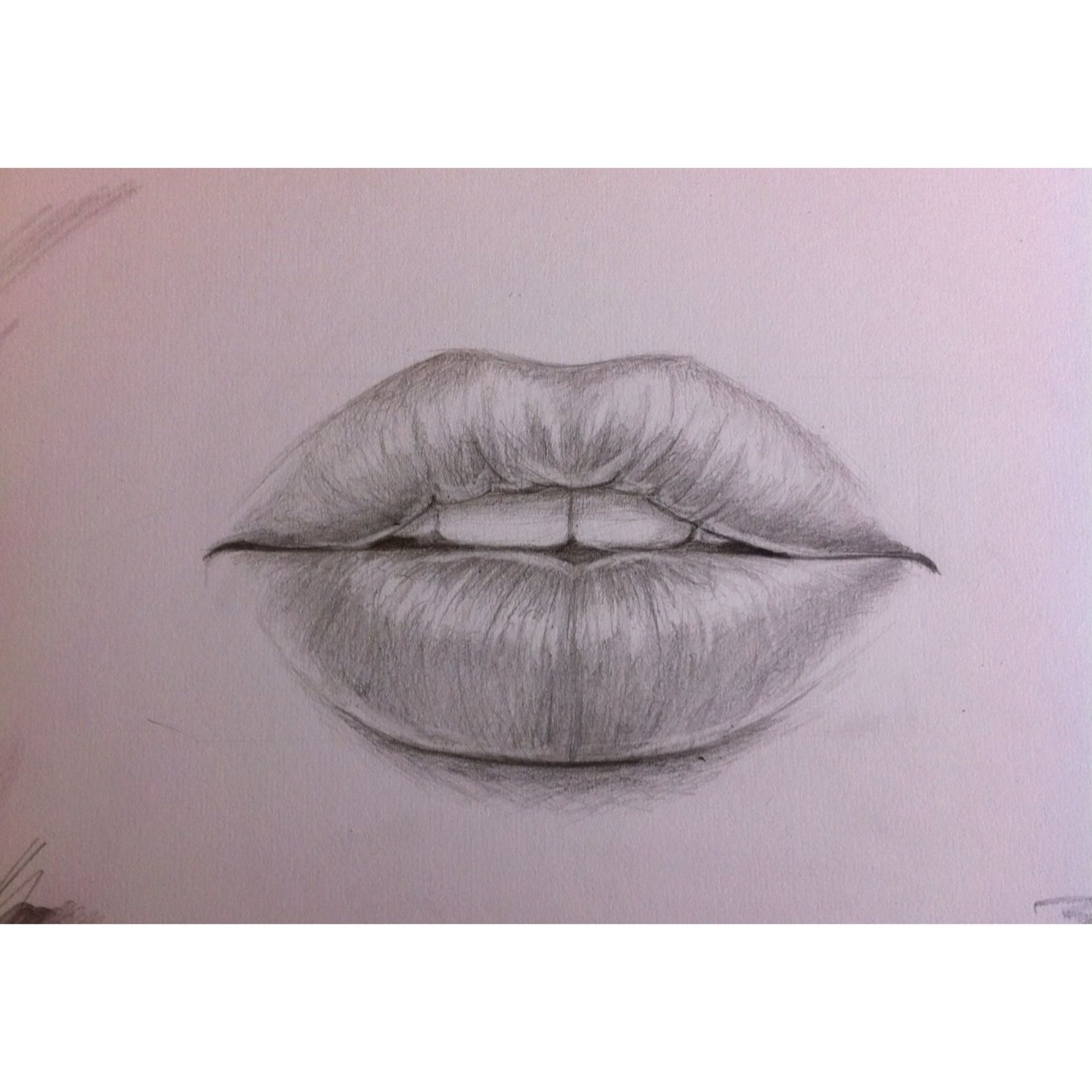 1488x1488 pencil drawing of lips. art Pinterest Lips, Draw and Sketches
