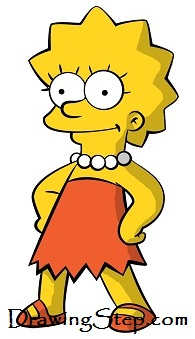 195x339 How To Draw Lisa Simpson