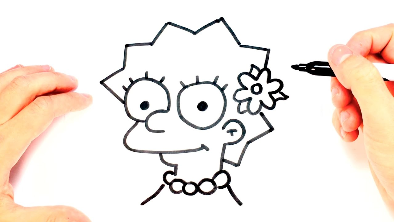 1280x720 How To Draw Lisa Simpson Lisa Simpson Easy Draw Tutorial
