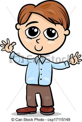 316x470 Cute Little Boy Cartoon Illustration. Cartoon Illustration Eps