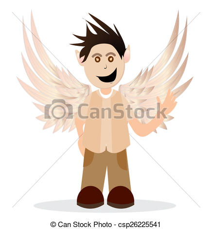 436x470 A Little Boy With Angel Wings. Illustrations Of Little Boy