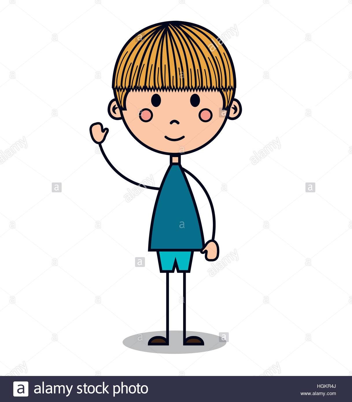 1217x1390 Cute Little Boy Drawing Vector Illustration Design Stock Vector