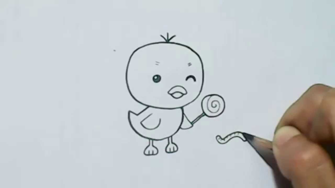 1280x720 How To Draw Cartoon Little Duck
