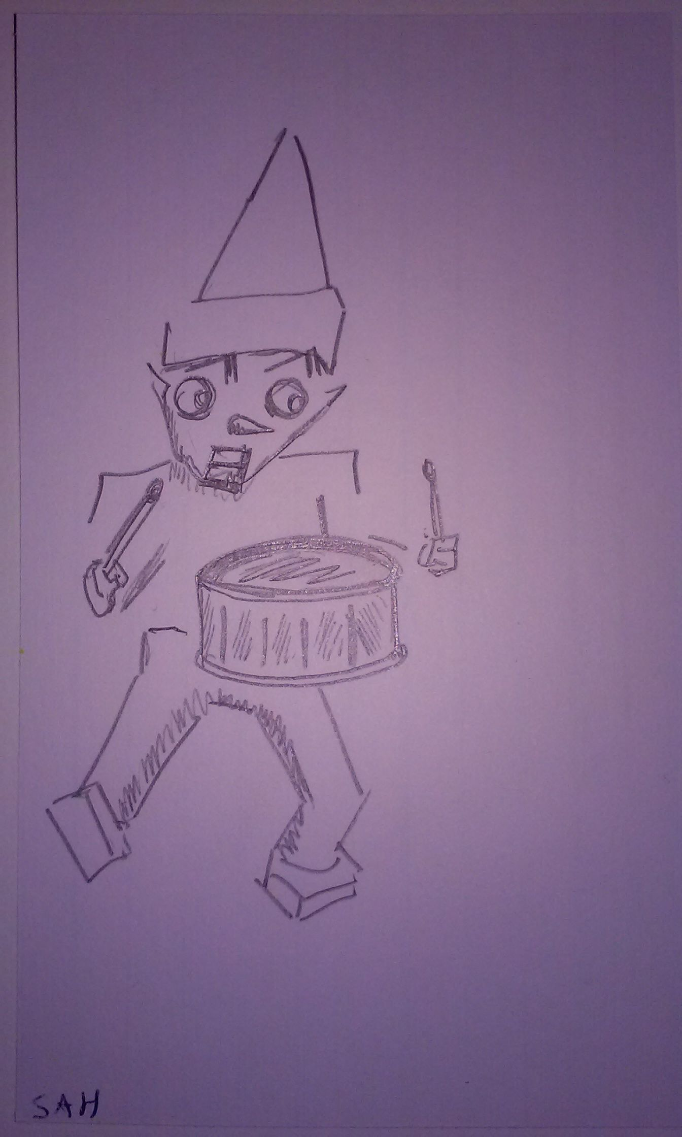 1344x2240 12 8 2017 Little Drummer Boy Elf Sketch Drawing Cartoon