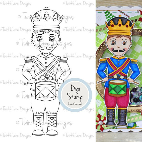 570x570 Little Drummer Boy, Digital Clipart, Digi Stamp, Nutcracker