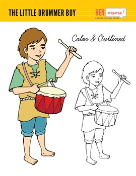 270x350 The Little Drummer Boy Clip Art (Hand Drawn) Drummer Boy