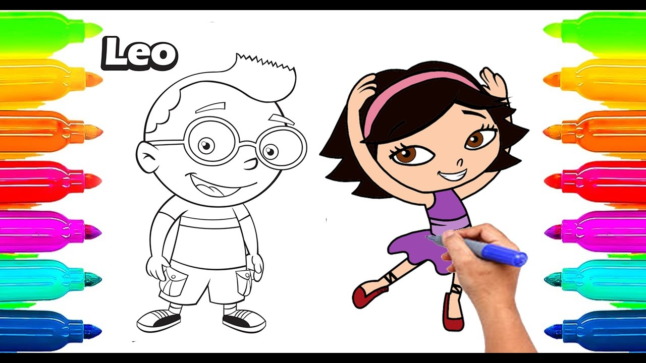 1280x720 How To Draw Little Einsteins Coloring Book For Kids Learning