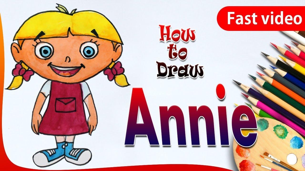 1280x720 How To Draw Annie Little Einsteins Drawing Annie Little