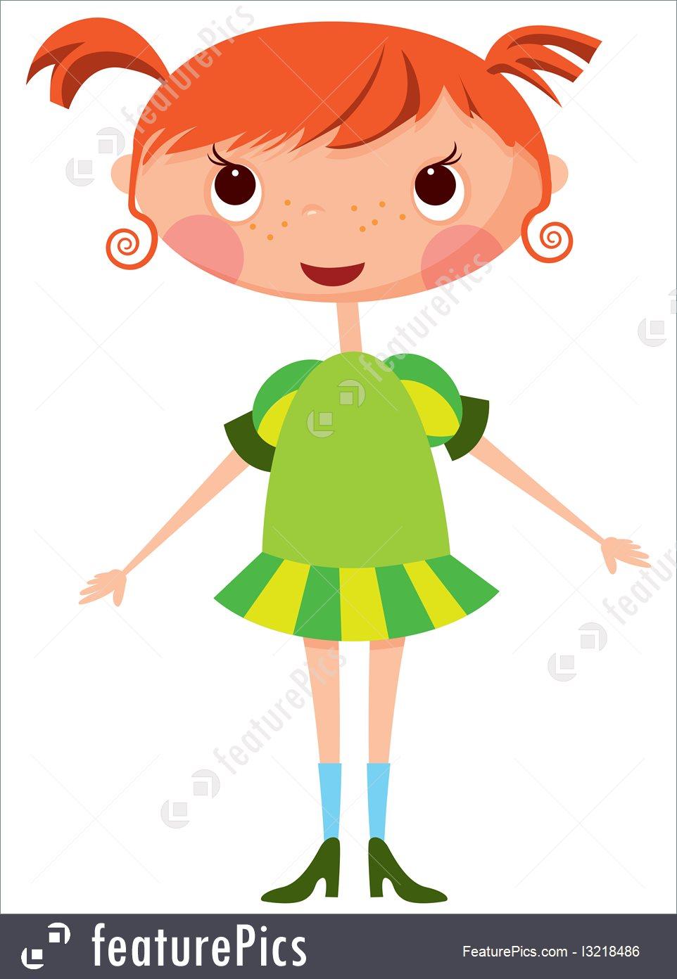 962x1392 Children Cartoon Little Girl