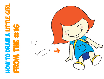 400x306 How To Draw A Cartoon Little Girl Or A Girl Dolly From The Number