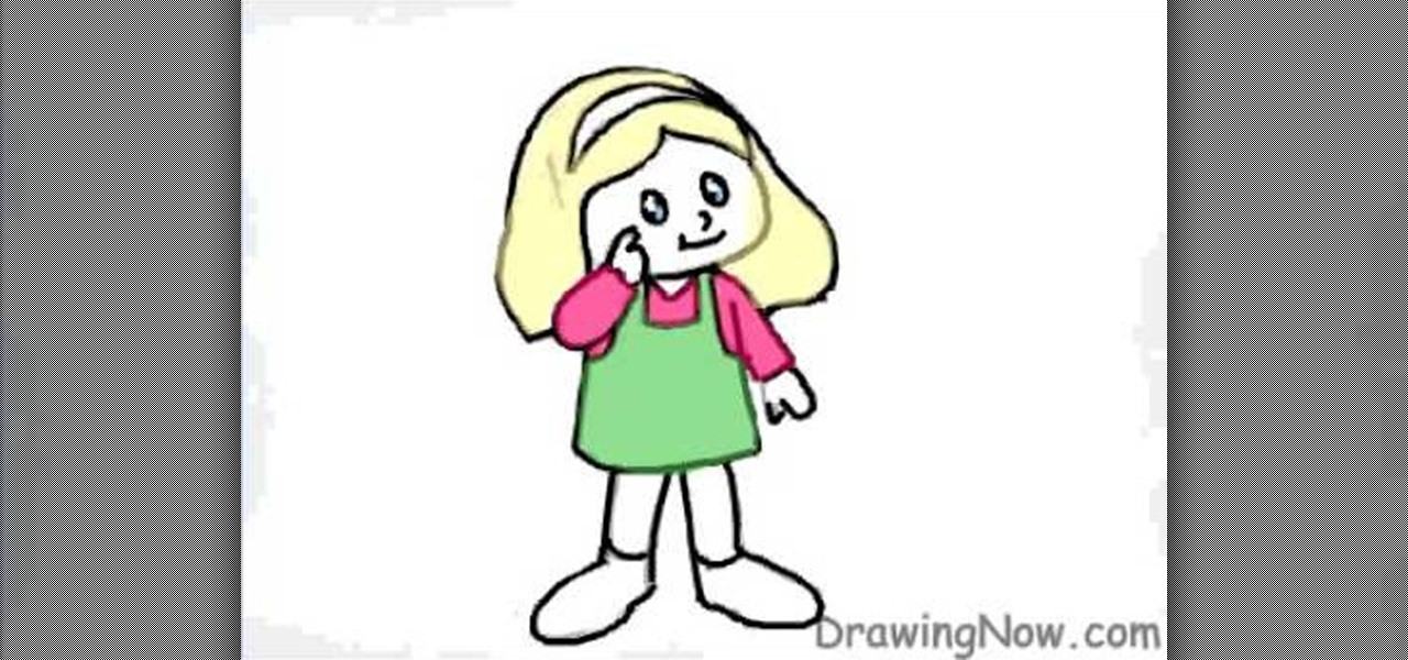 1280x600 How To Draw A Cartoon Figure Of A Little Girl Drawing