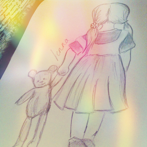 500x500 Girl, Little Girl, Teddy, Never Grow Up, Stay Young Forever