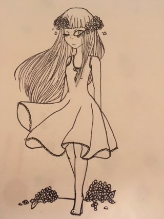 320x427 Doodle Of A Little Girl. The Lining Is Super Thick Because My