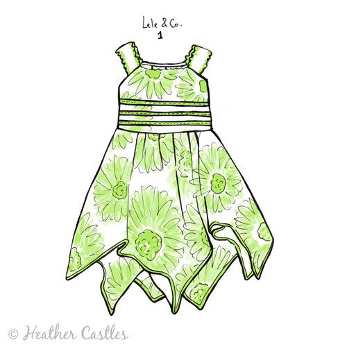 500x500 Hera Clothes Baby Outfits Hankie Flower Dress Paper Dresses