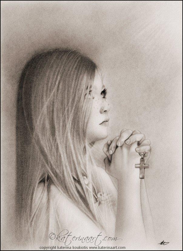 604x829 A Child's Prayer By Katerina Art