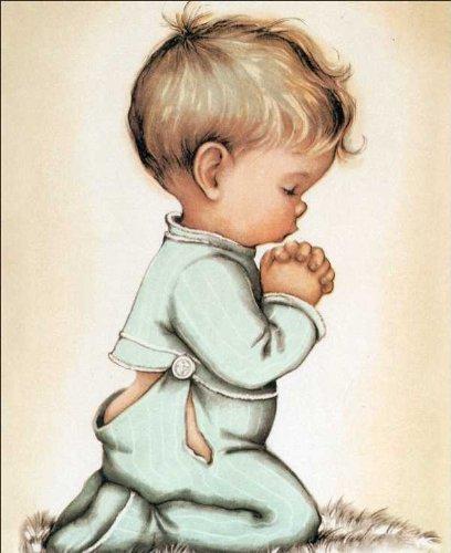 408x500 Little Boy Praying Paper Tole 3d Kit 8x10