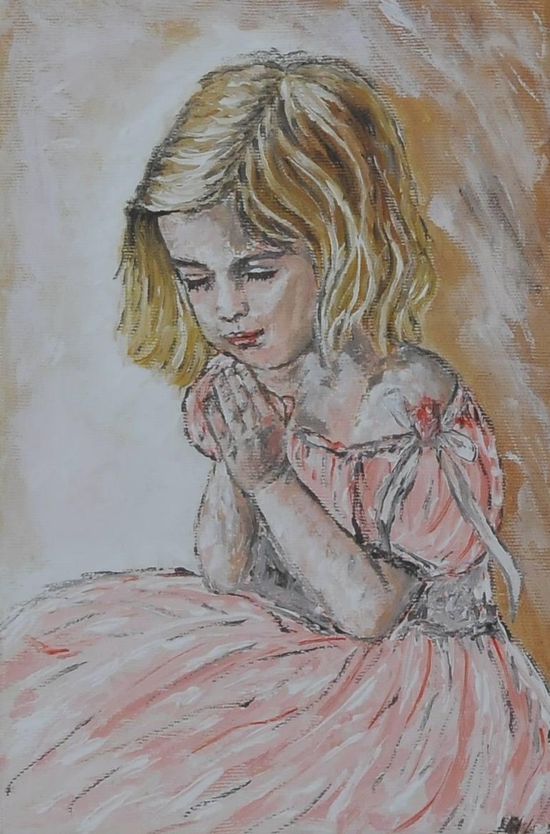 770x1168 Saatchi Art Little Girl Praying