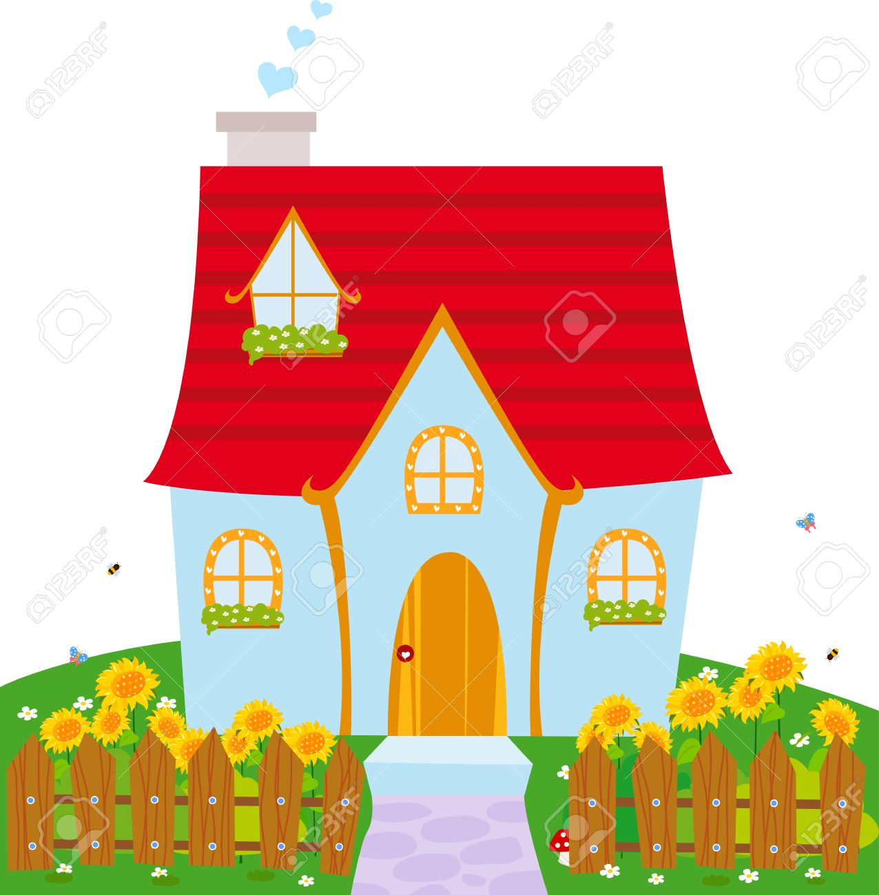 1276x1300 Little House Royalty Free Cliparts, Vectors, And Stock