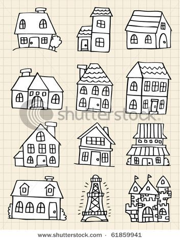 353x470 Little Houses Risco House, Doodles And Bullet