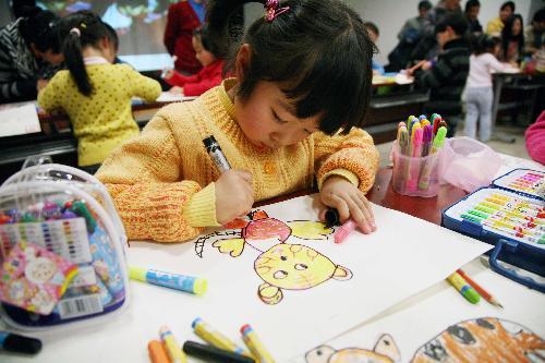 500x333 Kids Draw Tigers To Greet New Year