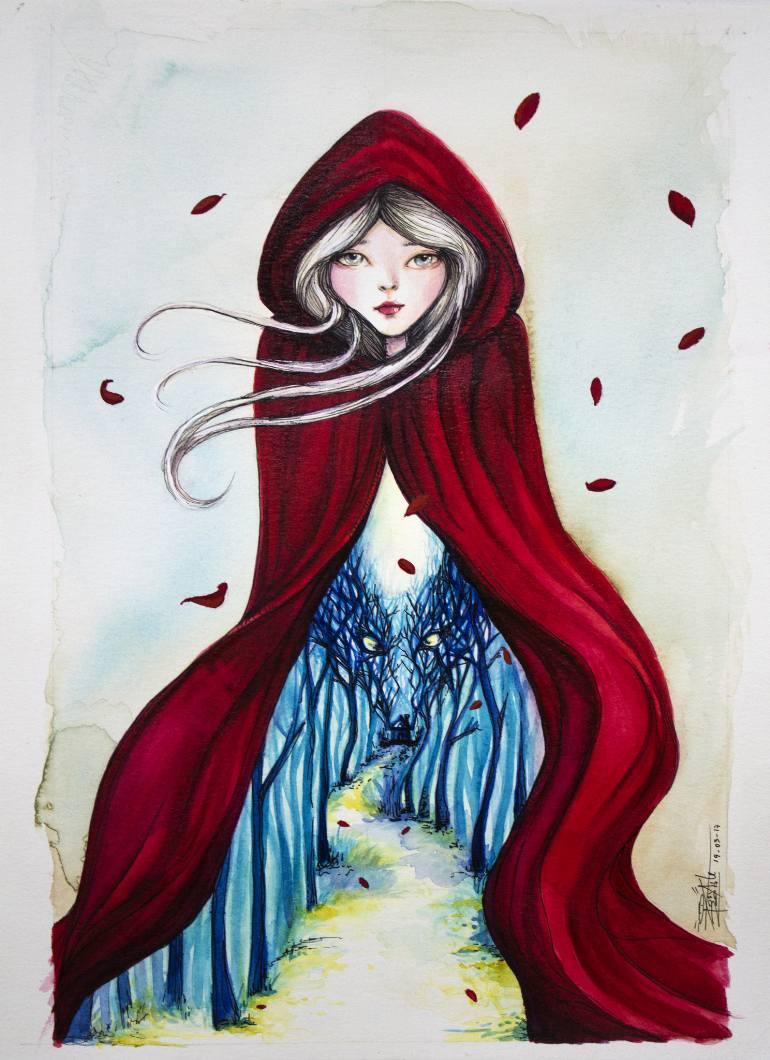 770x1060 Saatchi Art Little Red Riding Hood Painting By Josymar Arteaga