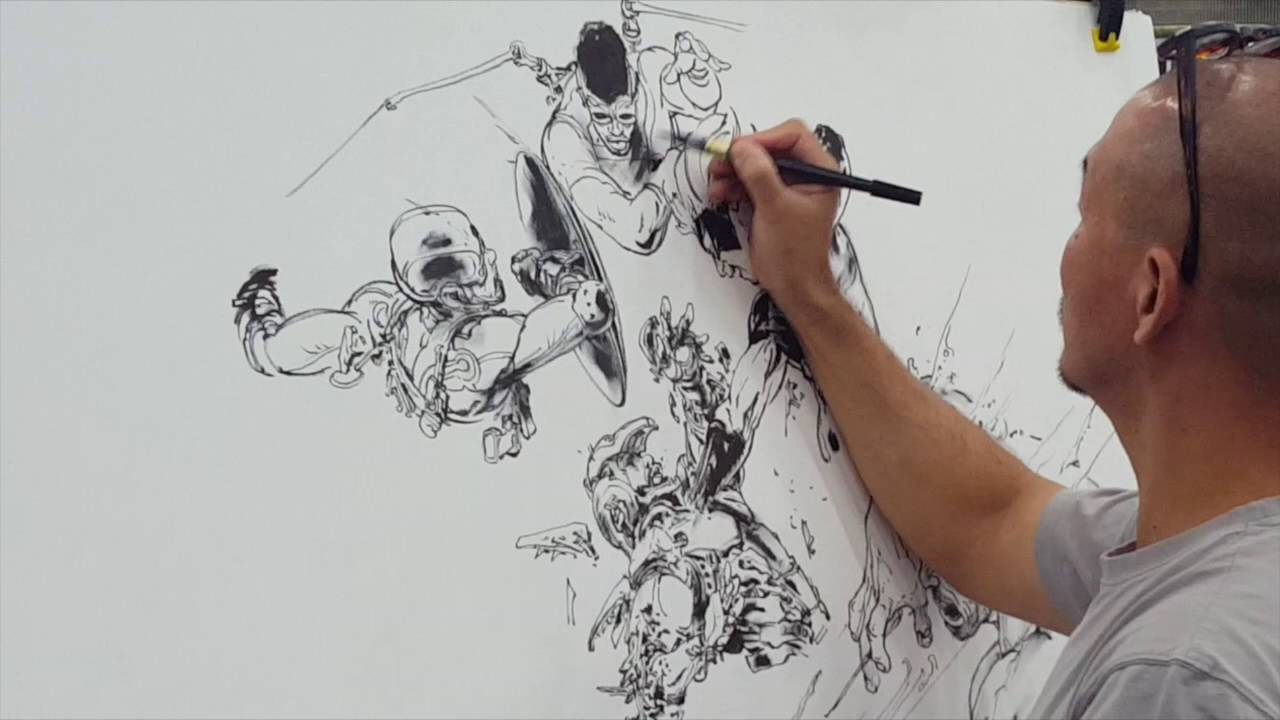 1280x720 Live Drawing