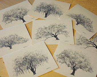340x270 Ophelia Oak Fine Art Print On Wood Pen And Ink Drawing