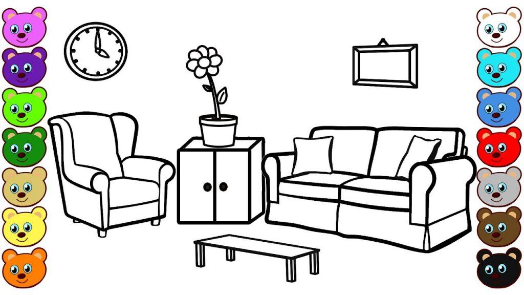 1024x576 Living Room Drawing