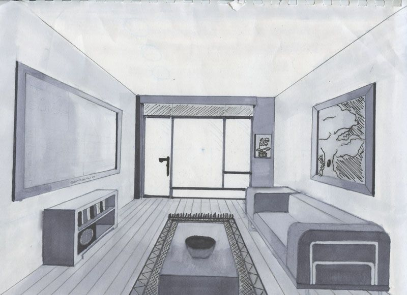 800x581 Living Room Perspective Living Room Point Drawing One Tutorial