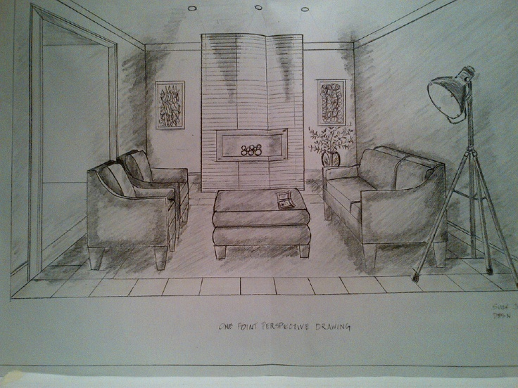 The Line Art And Living : Living room perspective drawing at getdrawings free for