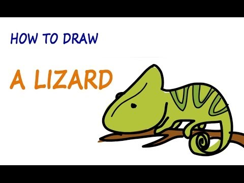 480x360 Drawing Lessons For Kids How To Draw A Lizard