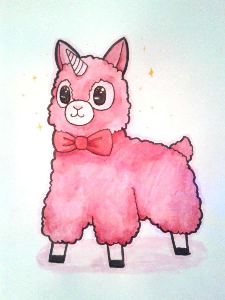 Llamacorn Drawing at GetDrawings.com | Free for personal use ...