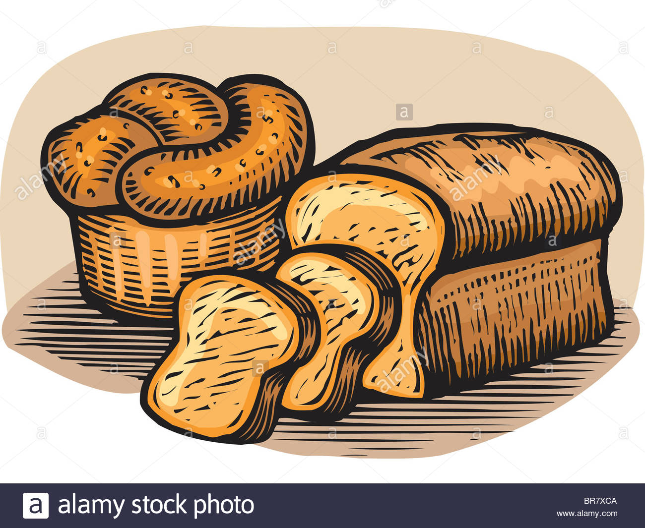 1300x1065 A Drawing Of Loaves Of Bread Stock Photo 31521850