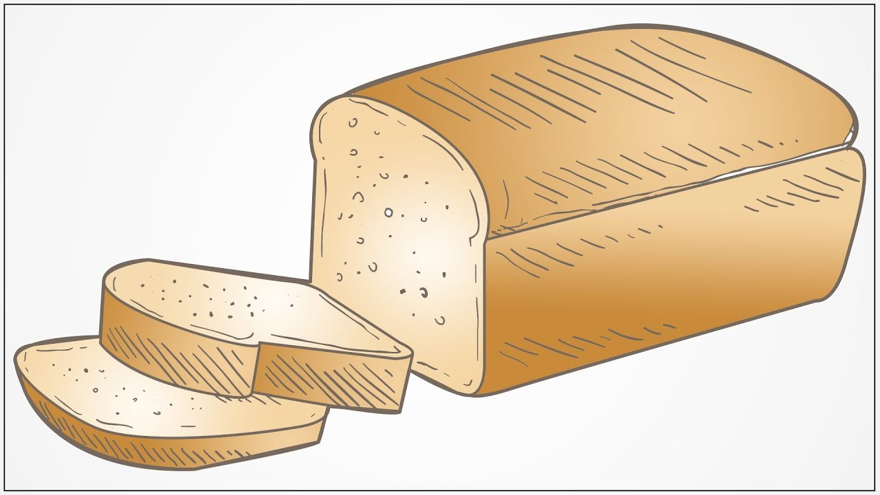 1280x720 How To Draw A Bread Step By Step