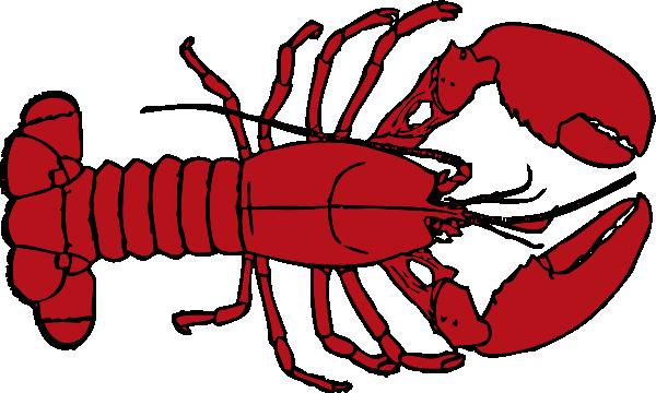 600x360 Lobster Outline Clip Art