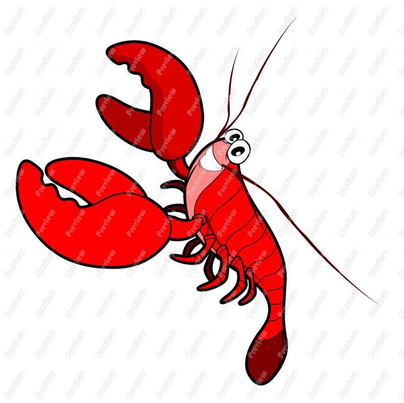 800x798 Ocean Sea Lobster Character Clip Art