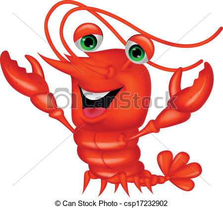 450x419 Vector Illustration Of Cute Lobster Cartoon Presenting Vector