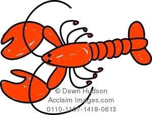 300x228 Cute Lobster Cartoon Drawing