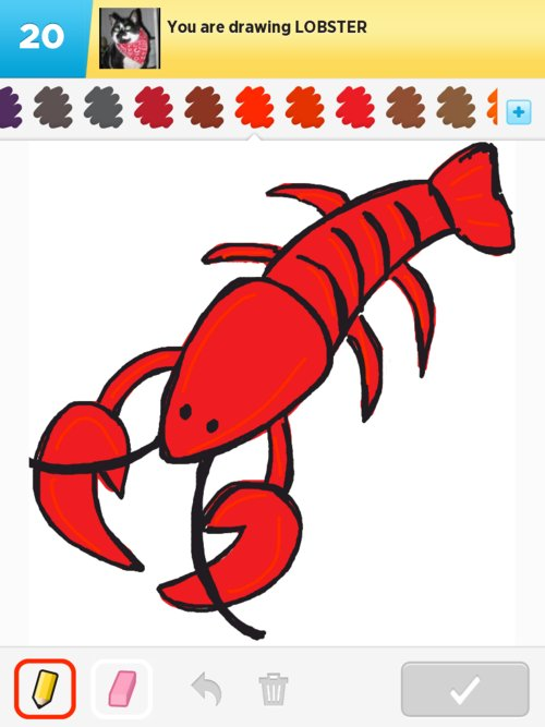 500x667 Lobster Drawing For Kids