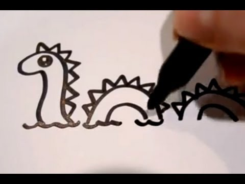 480x360 How To Draw A Cartoon Loch Ness Monster