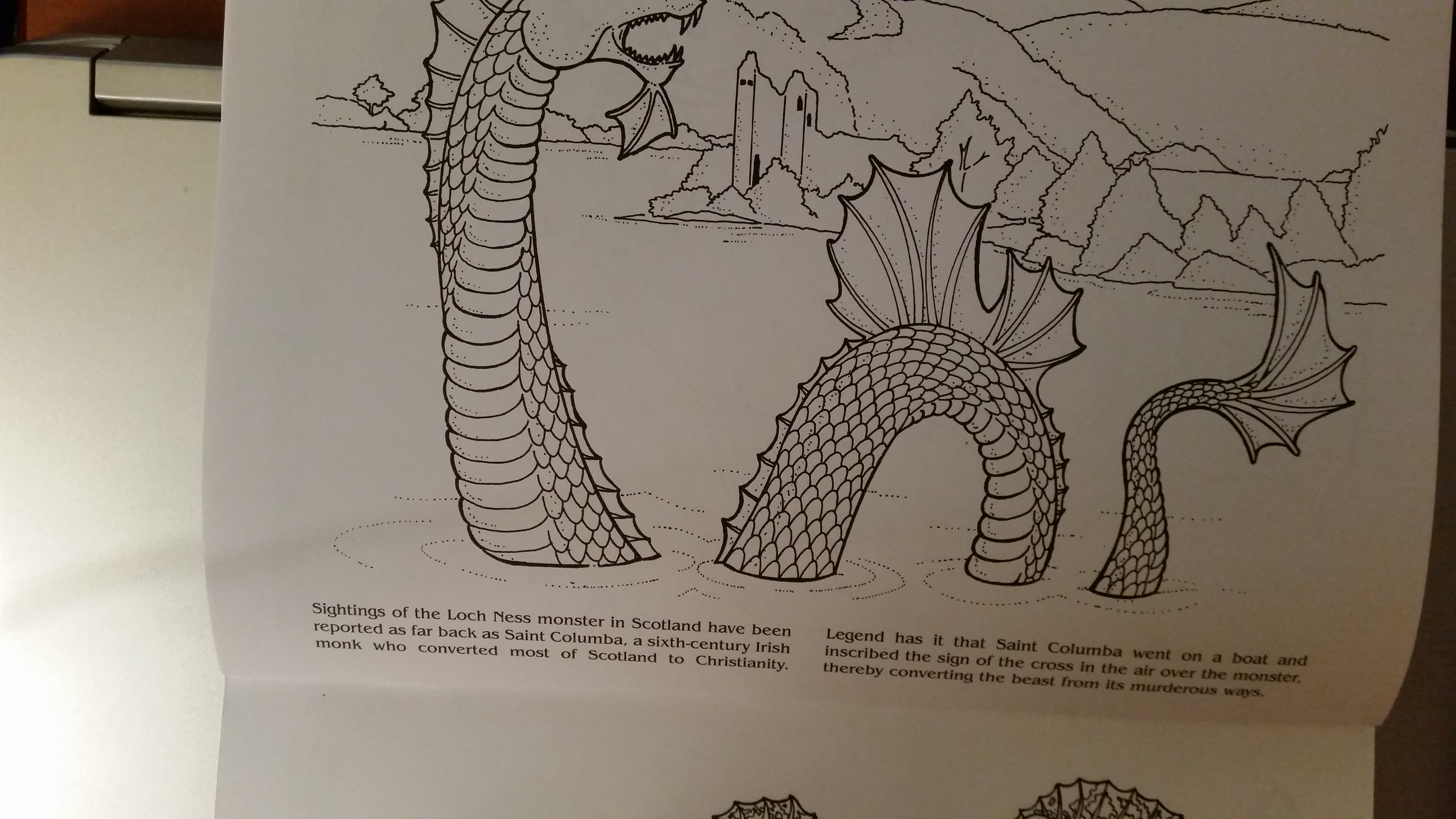 5312x2988 Dragon Drawing Loch Ness Monster Carol's Carousel Creations