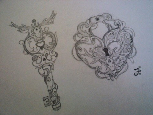 500x375 Lock And Key, I Loove The Design On These. Drawing