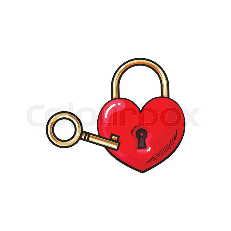 800x800 Red Heart Shaped Padlock And Key For Love Lock Unity Ceremony