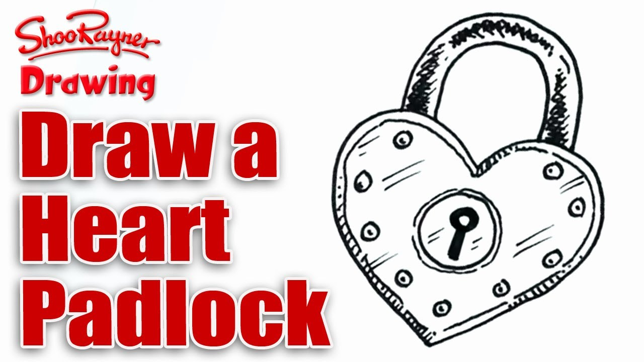 1280x720 How To Draw A Heart Shaped Padlock For Valentines' Day