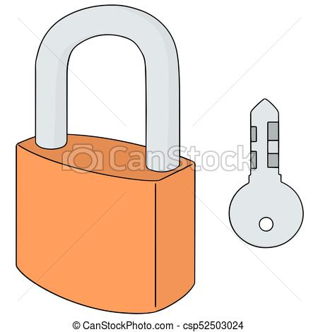 450x470 Vector Set Of Lock And Key Vector Illustration